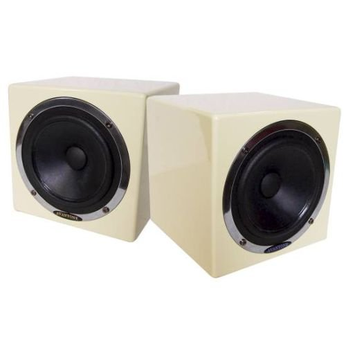Avantone Active MixCube Powered Full-Range Mini Reference Monitors - Creme, Pair by Avantone