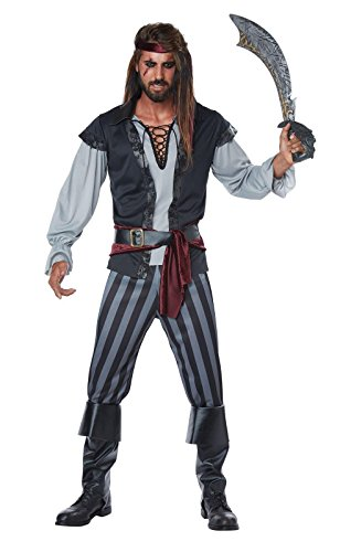 [Mens Scallywag Pirate Costume size XL] (Pirate Male Costumes)