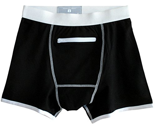 Speakeasy Briefs, Men's Stash Underwear with a Secret Front Pocket, Large, Black