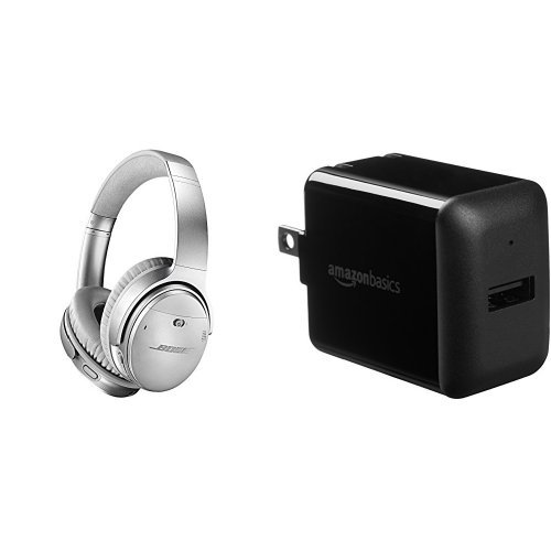 Bose® - QuietComfort 35 Wireless Noise Cancelling Headphones II - Silver