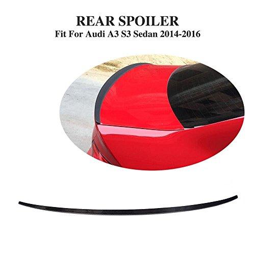 JCSPORTLINE for Audi A3 S3 A3 Sline Sedan 2014-2017 Carbon fiber Rear Lip Spoiler (Boot Spoiler)