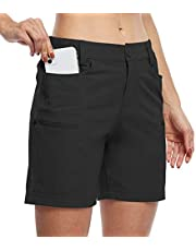 """Willit Women's Hiking Cargo Shorts Stretch Golf Active Shorts Water Resistant Outdoor Summer Shorts with Pockets 5"""""""