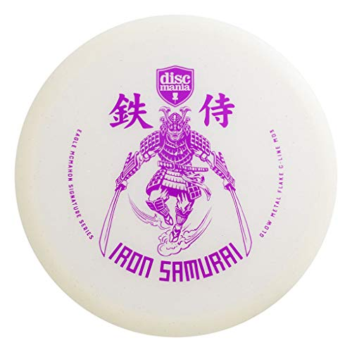 Discmania Limited Edition Eagle McMahon Signature Iron Samurai Glow Metal Flake C-Line MD3 Mid-Range Golf Disc [Colors May Vary] - 178-180g