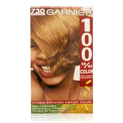 Garnier 100% Color Ultra-Lift Blondes Super Long-Lasting Vitamin & Shine Conditioner Non-Drip Gel-Creme Color 730 Dark Golden Blonde
