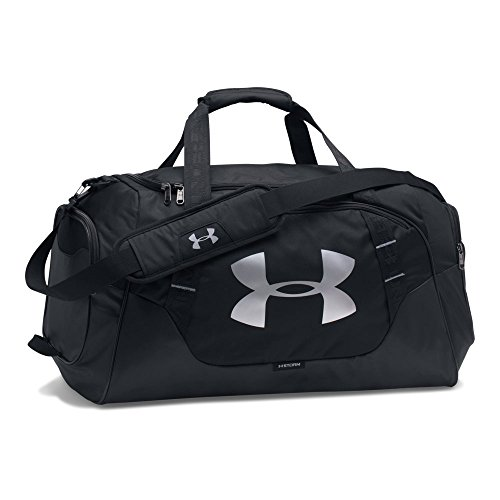 Under Armour Undeniable Duffle 3.0 Gym Bag, Black (001)/Silver, Medium (Under Armour Basketball Bag)