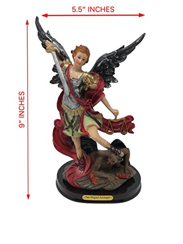 9 Inch St. Saint Michael the Archangel Angel Holy Figurine Religious Decoration Statue