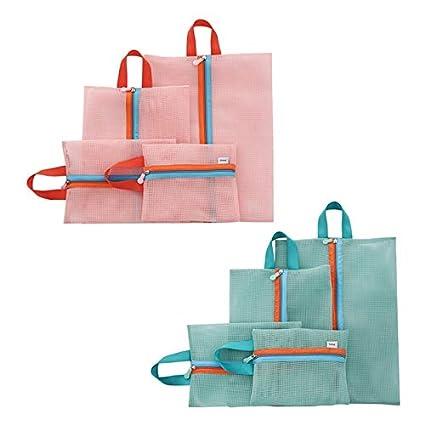 9593de07ae Bag Shoes - 4pcs Set Organizer Storage Bags Travel Luggage Packing Mesh  Pouch Shoe Bag Travelling