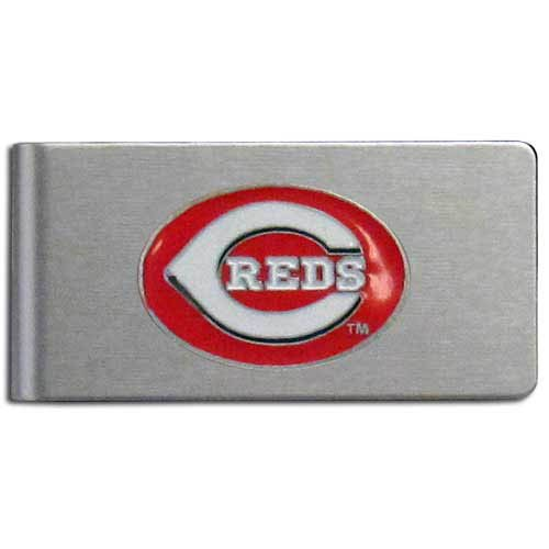 MLB Cincinnati Reds Brushed Money Clip