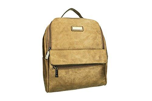 Tasche damen rucksack schulter PIERRE CARDIN gold mit offnung zip VN914