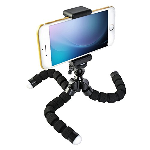 Universal Flexible Mini Tripod ,3-way stick with 1/4 Screw Octopus Shape,for GoPro HD Hero Cell Phones iPhone 6 6+ 5S 5C 5 4S 4, Samsung Galaxy S5 S4 S3 S2, Note 3 2 1--Black by Jiale