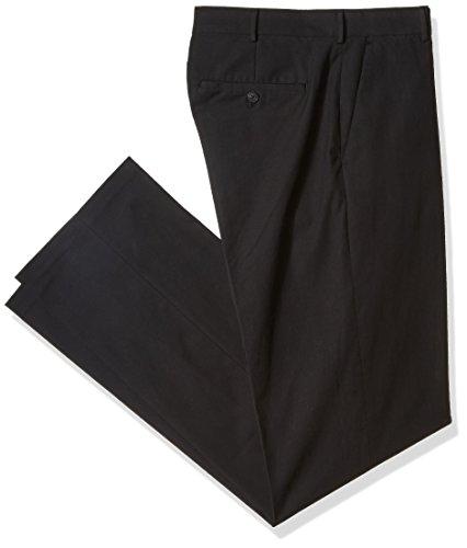 - Van Heusen Men's Big and Tall Flex Flat Front Oxford Chino Pant, Black, 48W X 29L