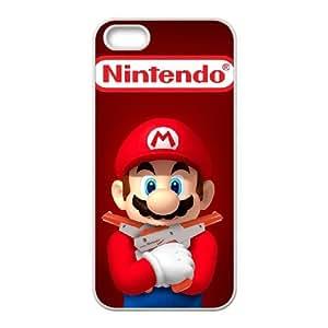 iPhone 4 4s Cubre Blanca Super Mario Bros de plástico duro de caja del teléfono Y7M2QH