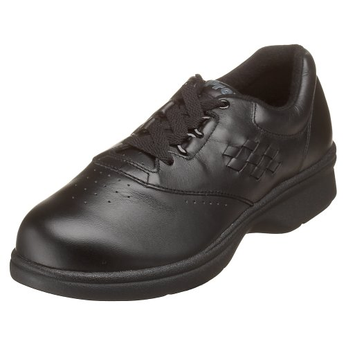Propet Women's W3910 Vista Walker Comfort Shoe Black Smooth