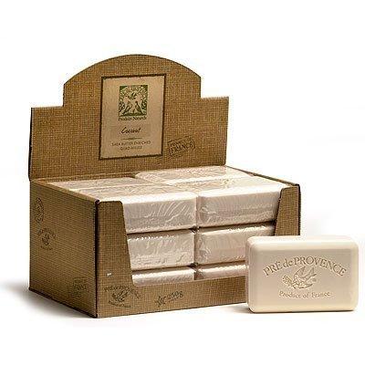 - Case of 12 Pre de Provence 250g Coconut Shea Butter Enriched Quad Milled Soap