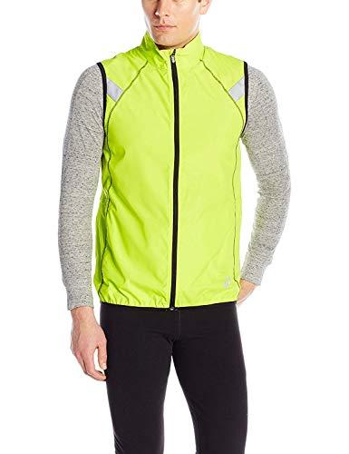 (ASICS Men's Shosha Running Vest, Neon Lime/Black, XX-Large)