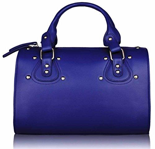 Womens Handbags Sale Ladies Shoulder Bags Faux Leather Designer Large Tote New Design 4 - Blue