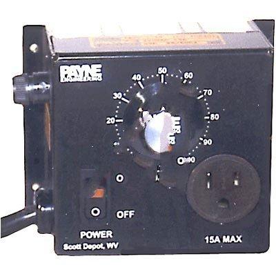 Payne Controls Company 18TP-1-15 Transformer Var. Voltage Ctrl 120VAC Vi 0 to 118VAC Vo 15A 1.8kVA 4In.H