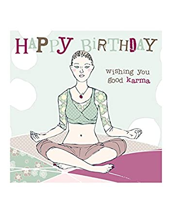 Yoga Geburtstagskarte Von Molly Mae Ys14 Amazon De Burobedarf