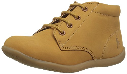 Beige Kids Shoes Nubuck (Polo Ralph Lauren Kids Baby Kinley First Walker Shoe, Cashew Nubuck, 9.5 Medium US Toddler)