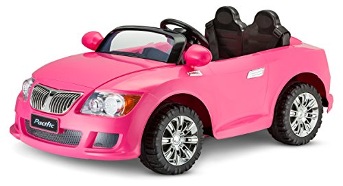 amazoncom kid trax kid trax 12v cool car kt1246 ride on pink toys games