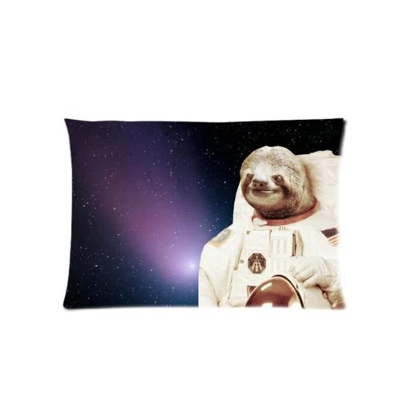 Nymeria 19 Sloth Astronaut Rectangle Pillowcase Pillow Case Covers 20X30 (One Side) Ga-410 -
