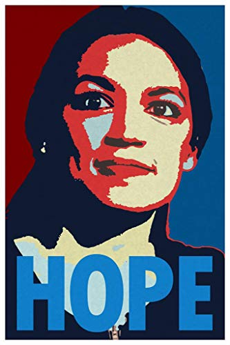 Alexandria Ocasio Cortez Hope Campaign Art Mural Giant Poster 36x54 Inch]()