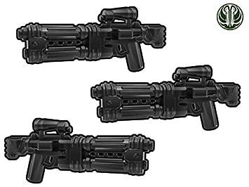 3x E 22 Blaster Gewehr Mit Doppeltem Lauf Custom Waffen Für Lego