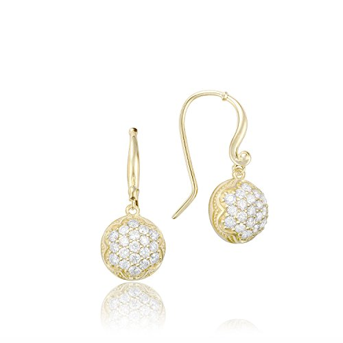 Tacori SE205Y 18K Yellow Gold Diamond Sonoma Mist Earrings (0.80 cttw, H-I Color, I2-I3 (Tacori 18k Earrings)