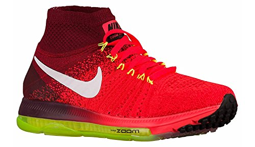 Nike Frauen Zoom All Out Flyknit Laufschuhe Bright Crimson White Volt 616