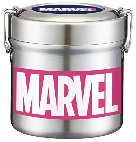 스케이터 보온 도시락 덮밥 형 600ml 마블 로고 Marvel 진공 스테인레스