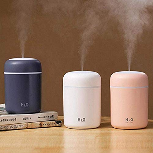 YALANK USB Cool Mist Humidifier, 300ml Portable Mini Humidifier with Colored LED Night Light, Personal Desktop Humidifier for Baby Bedroom Travel Office Home, Auto Shut-Off, Super Quiet