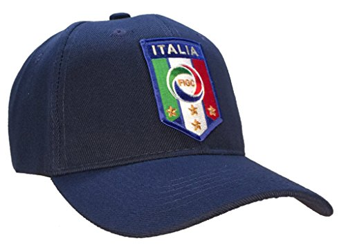 Italy Italia National Football Team FIGC Hat Blue Soccer Ball Cap by USNAVYSUBVET