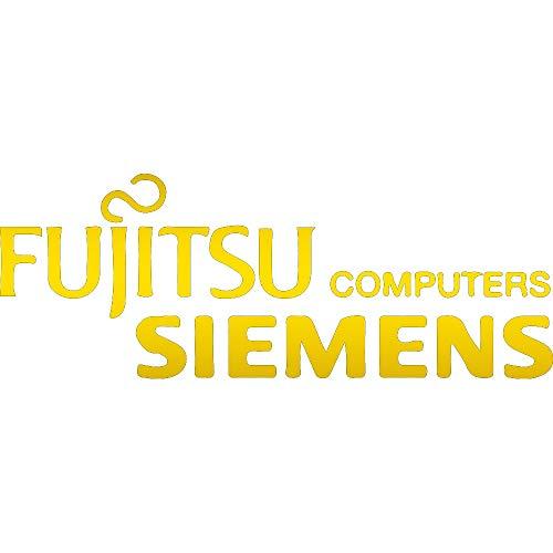 (NBFU DECALS Logo FUJITSU Siemens Computers (Metallic Gold) (Set of 2) Premium Waterproof Vinyl Decal Stickers for Laptop Phone Accessory Helmet CAR Window Bumper Mug Tuber Cup Door Wall)