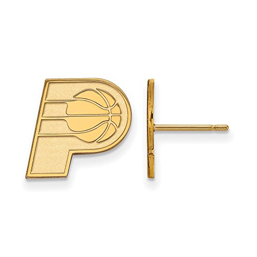 NBA Indiana Pacers Post Earrings in 10K Yellow Gold by LogoArt