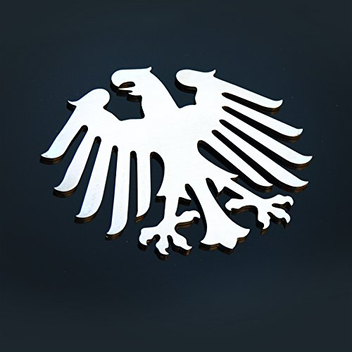 "Mina Gallery Classic German Germany Eagle Metal Decorative Emblem Decal Ornament Stainless Steel 5"" Tall"