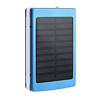 DZT1968 30000mAh 1.5 W Dual USB Portable Solar Battery Charger Power Bank For Cell Phone 7.5 oz