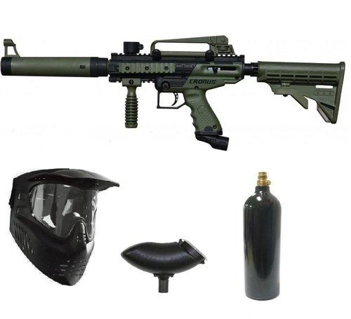 Wrek Paintball Cronus Tactical Paintball Gun Package Olive - Tippmann Tactical Paintballs
