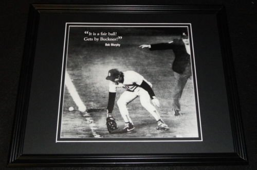 Bill Buckner 1986 World Series Error Framed 11x14 Photo Display Red Sox Mets