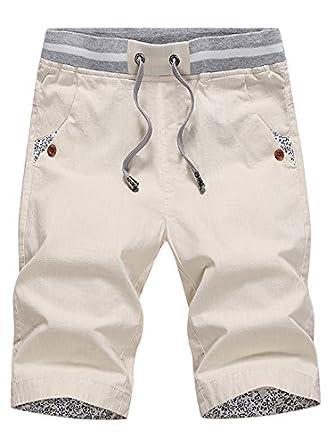 2fb35dee4beca SOIXANTE Bermuda Homme Short en Coton Tissu Fin Motif Fleuris Taille  élastique Disponible XS-2XL: Amazon.fr: Vêtements et accessoires