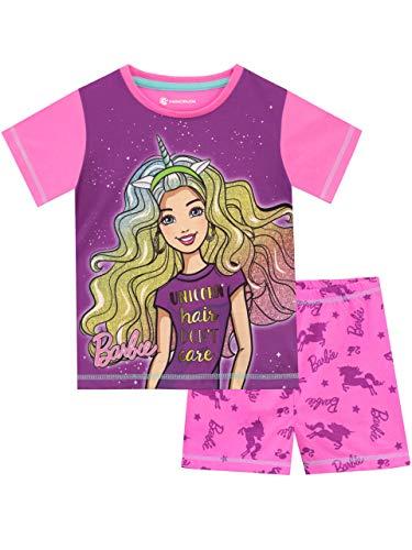 Barbie Girls Unicorn Pajamas Multicolored Size 5