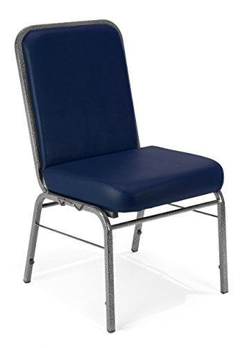 - OFM Comfort Class Series Anti-Microbial/Anti-Bacterial Vinyl Stack Chair, Navy