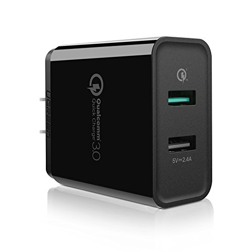 UGREEN QC 3.0 USB Wall Charger Adapter, 30W Dual USB Fast Charger Quick Charge Compatible for Galaxy S8 S9 S7 Note8 S6, iPhone iPad, LG V30 G6, Moto G5 Droid Turbo, Xiaomi MIX2 Huawei Sony HTC