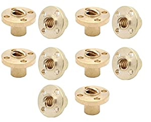 10 PCs TR8 Brass Trapezoidal 8mm Lead Screw nut pitch 2 lead 8 and 4 starts from Alab