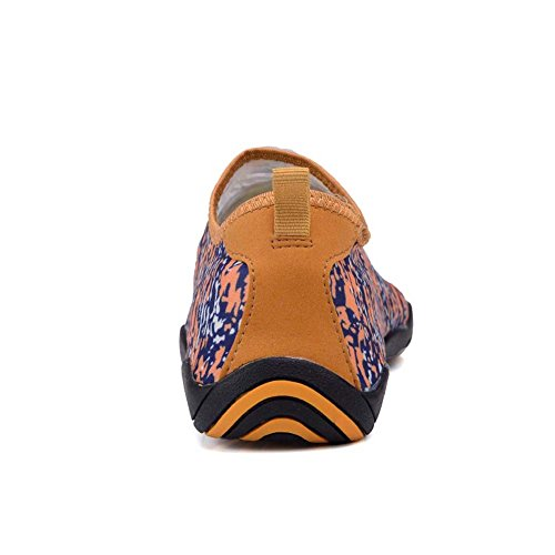 UNN Herren Slip On Water Schuhe Barfuß Quick-Dry Aqua Yoga Sportsocken Orange