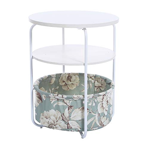 Garwarm 3-Tier Round Side Table End Table