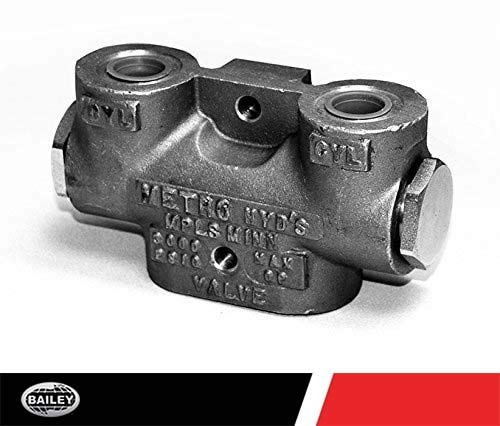 (Metro Lock Valves: MFG NO. 411-04, Single Circuit, 8 GPM, 3000 PSI with 1/2'' Inlet/Outlet NPT Ports, Max GPM: 15, 280364)
