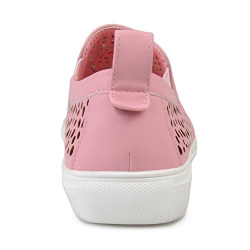 Sneaker Con Taglio Laser Da Donna In Pelle Sintetica Brinley Co Rosa
