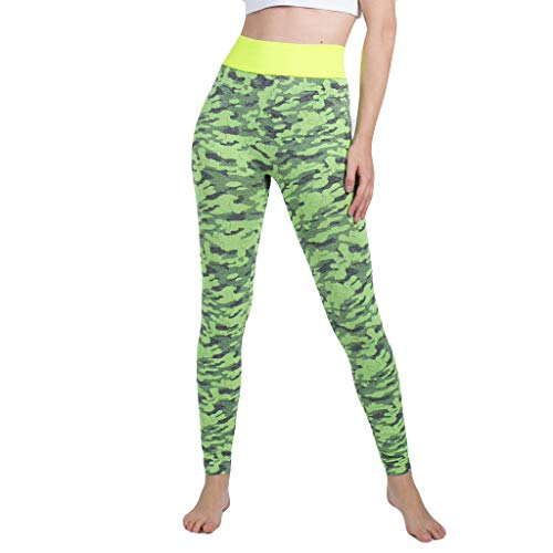 FIRERO Women's Seamless Camouflage Knitted Yoga Pants Sports Trousers Seamless ()