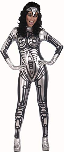 Forum Outta Space Female Robot Costume, Gray, One -