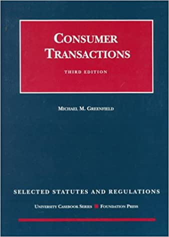 selected consumer statutes selected statutes